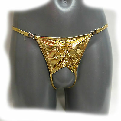 Riemenstring  - Golden Crotchless Panty Size:M (439)