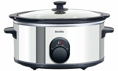 Breville ITP137 4.5L Slow Cooker - Stainless Steel Black