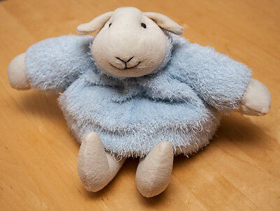 """Sheep Cuddly Toy ~ Beanbag Style ~ 8"""" Tall"""