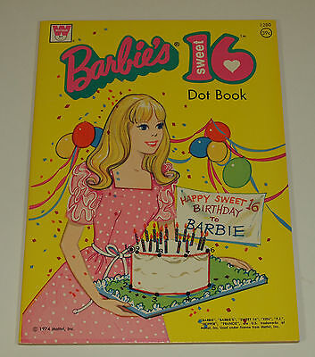 Vintage Whitman 1974 BARBIE SWEET 16 Coloring Book UNUSED Uncolored