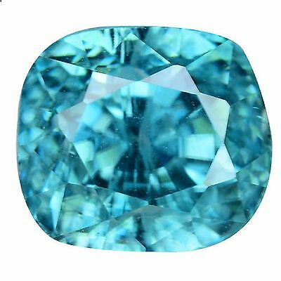 3.26Ct TOP MOST ! LUSTROUS BEAUTIFUL CAMBODIAN HOT BLUE NATURAL ZIRCON,