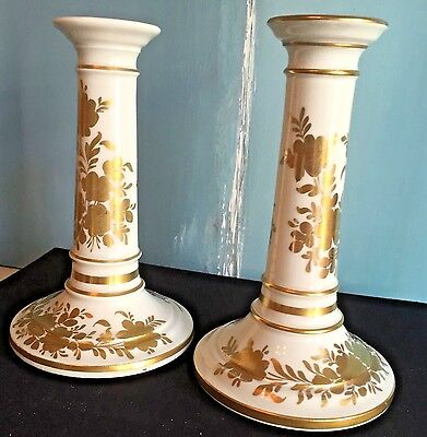 Antique French Paris Porcelain Candlesticks