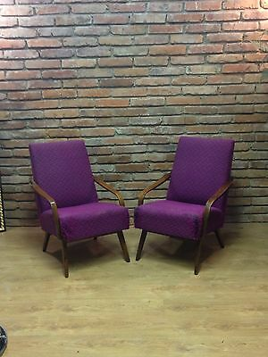 A pair of easy armchairs  by TON old Czechoslovakia 1960s