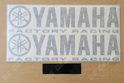 Yamaha Factory Racing Decals Stickers for Bellypan etc x2 Premium Quality 300mm