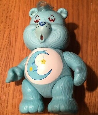 "Vintage 1983-1984 Care Bear, Bedtime Bear, 3.5"" Approx Posable Figure Blue Moon"