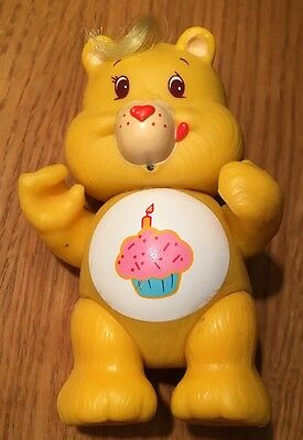 "Vintage 1983-1984 Care Bear, Birthday Bear, 3.5"" Approx Posable Figure Cake"
