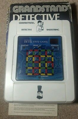 Grandstand Detective Shoestring Tabletop Electronic Game 1980's Boxed Rare Retro