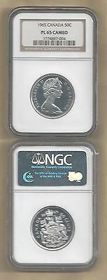1965 Canada Silver 50 Cents Pl-65  Cameo  Ngc