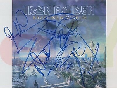 REPRINT RP 8x10 Signed Autographed Picture Photo: Group Color Iron Maiden