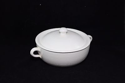 FRANCISCAN Earthenware Covered Casserole Ivory 9-1/4""