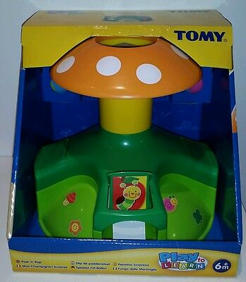 Tomy Play to Learn Post n Pop Baby Ball Activity Toy New Shower Gift Boy Girl ��