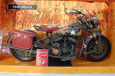INDIAN  WW2 MILITARY ARMY  MODEL MOTORCYCLE HUGE 1/6th