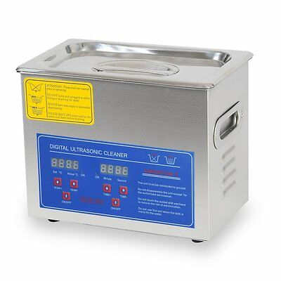 AW 3L Stainless Steel Ultrasonic Cleaner w/ Heater Timer Basket Part Jewelry ...