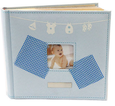 Baby boy blue  photo safe 200 slip in photo album gift boxed  baby boy gift