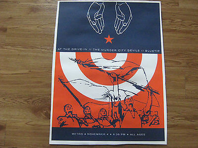 At The Drive-In Concert Poster Metro Chicago IL Relationship of Command Tour
