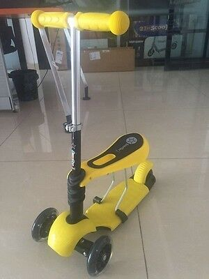 3 in 1 Kids Kick Scooter with Removable Seat With Light Up wheels