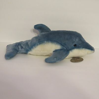 "12"" Russ Yomiko Classics Dolphin Plush Leatherette Hang Tag Stuffed Animal"
