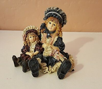"1995 Boyds Yesterdays Child""Victoria&Samantha""The Dollstone Collection-Free ship"