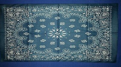 2XMotorcycle Bike Tube Neck Face Mask Seamless Bandana Swarovski Paisley Blue
