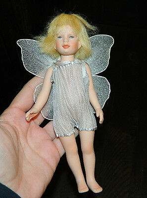 "Vintage 7.5"" Robert Tonner Tinkerbell Fairy Doll Personally Autographed Friend"