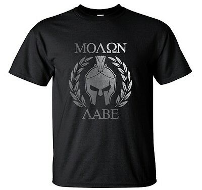 Spartan Moto Top Molon Labe Greek Warrior T-Shirt
