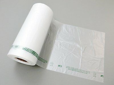 """Plastic Bag-Clear HDPE Produce Rolls 10""""x15"""" 11 mic 0.44 mil - 3500 bags/case"""