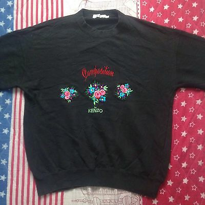 KENZO COMPOSITION FLORAL KNIT EMBROIDERY SWEATSHIRTS Golf Sport Polo Wear