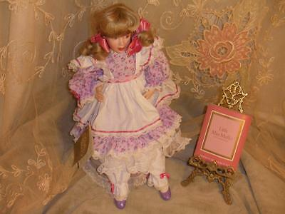 Little Miss Muffet Franklin Heirloom Porcelain Hand Painted Doll Carol Lawson