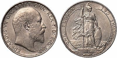 1904 King Edward VII Florin silver coin