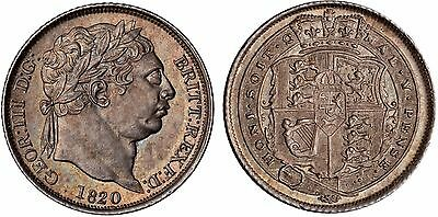 1820 George III Silver Sixpence Coin