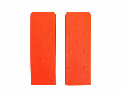 2x Chainsaw Splitting Tree Log Felling Strong Plastic Wedges 8''