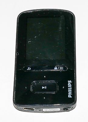 Philips GoGear VIBE 4GB MP3/MP4 Player - Black 785 SONGS