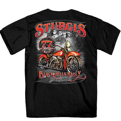 SPM1603 Official 2017 Sturgis Rushmore Black T Shirt Size L