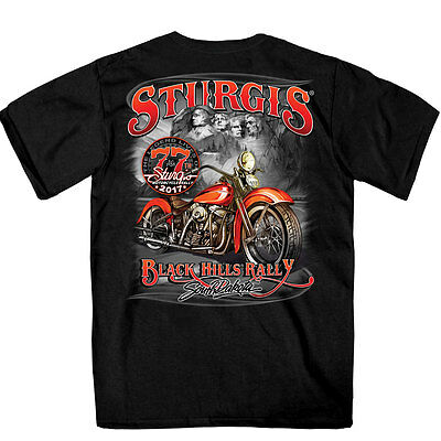SPM1603 Official 2017 Sturgis Rushmore Black T Shirt Size XXXL