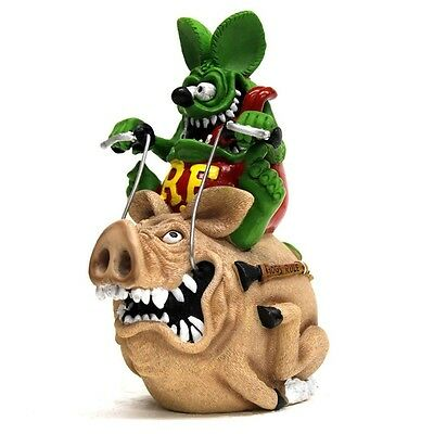New Rat Fink Riding Hog Coin Bank statue figure Ed Roth Official 2015 JAPAN F/S