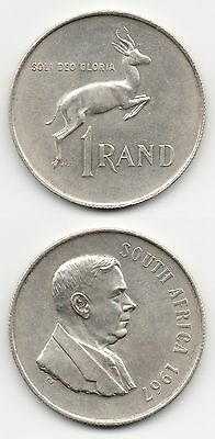 Sud South Africa 1 Rand 1967 Argento