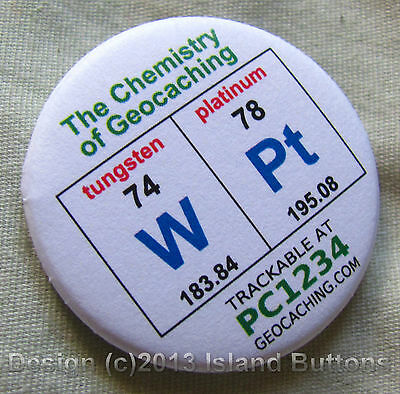Geocaching Chemistry: WPt Trackable Keyring (unactivated + icon)