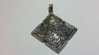 Gorgeous Large Domed Antique Style Pendant Silver No Chain
