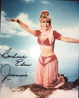 BARBARA EDEN I DREAM OF JEANNIE SIGNED PHOTO Color AUTOGRAPH 8 X 10