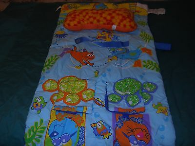 Infantino animal & ocean creatures shopping cart cover w/ bone shaped pillow