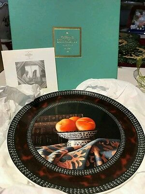 """Jean-Claude Chauray Bernardaud Limoges Peaches 'PECHES' 7.5"""" Plate New in box!"""