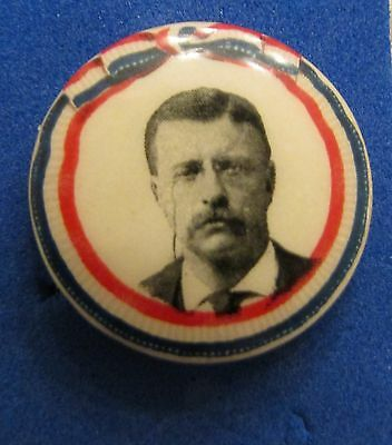 """Theodore Roosevelt Presidential Political Campaign Button 1904 -  7/8"""""""