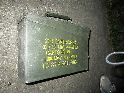Ammo Can Box US Army Military M13 50 Cal  Ammunition Metal Storage  7.62MM