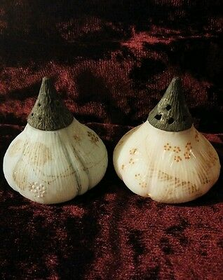 Victorian Mt. Mount Washington Decorated Fig/onion Salt Shakers