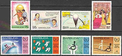 2 Complete Sets of Stamps from Barbuda, MNH