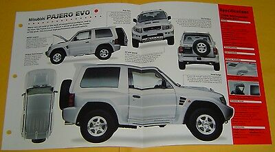 1997 1998 Mitsubishi Pajero Evolution V6 3497 cc EFI IMP info/Specs/photo 15x9