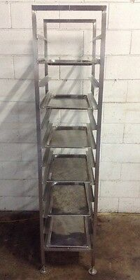 Commercial Stainless Freestanding 12 Bay Caterers Bakers Rack  + 6 S/S Trays