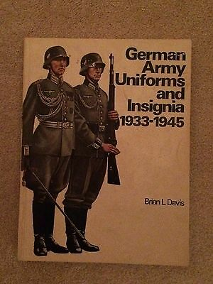 """""""ww2 German Army Uniforms And Insignia""""  Soft Cover Book By Brian Davis"""