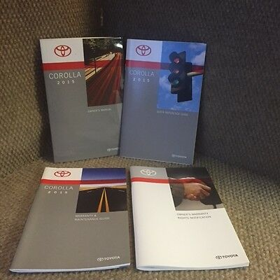 2015 Toyota Corolla Owners Manual set with warranty guide and booklets