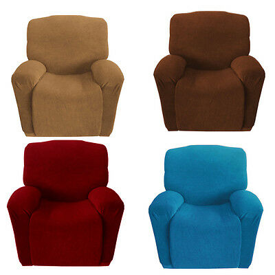 4-way Stretch Solid Couch Sofa Cover 1 Seater Recliner Easy Install Armchair AUS